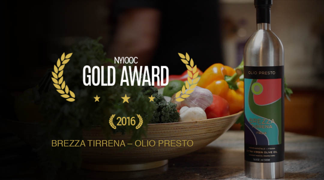Brezza Tirrena Olio Presto wins NYIOOC Gold Award
