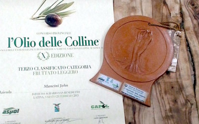 """Brezza Tirrena Wins 3rd Prize at """"The Oil of the Hills"""" Competition in Italy"""